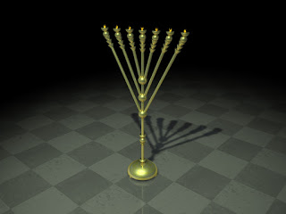 3-D rendering of what the Rambam Menorah would have looked like.